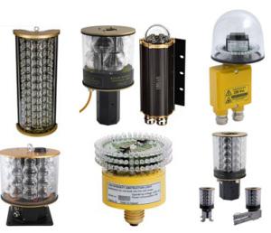 OBELUX - Balises d'obstacle LED de basse intensité (Série -LI) OACI Type A (10cd ROUGE) et Type B, FAA L-810 (32cd BLANC)